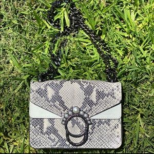 CBORSE IN PELLE Genuine Leather Snakeskin Bag
